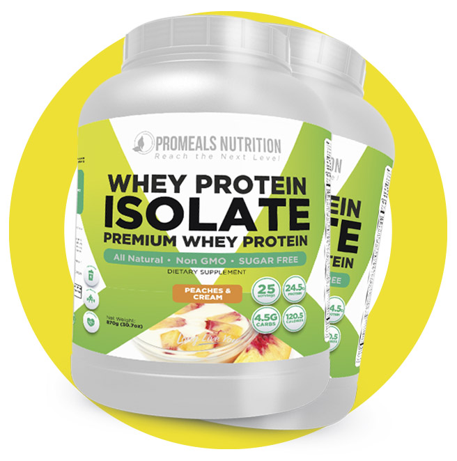 Shop Whey Protein Isolate Menu by MyProMeals.com