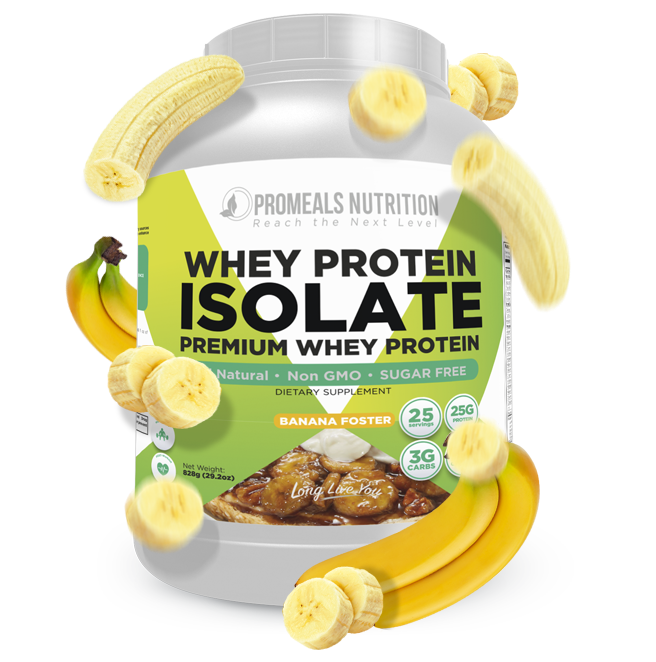 Banana Foster Whey Protein Isolate by Promeals Nutrition