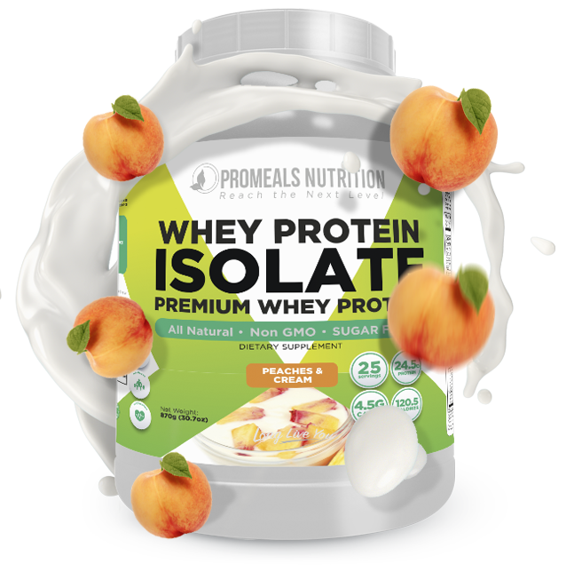 Peaches N Cream Whey Protein Isolate by Promeals Nutrition