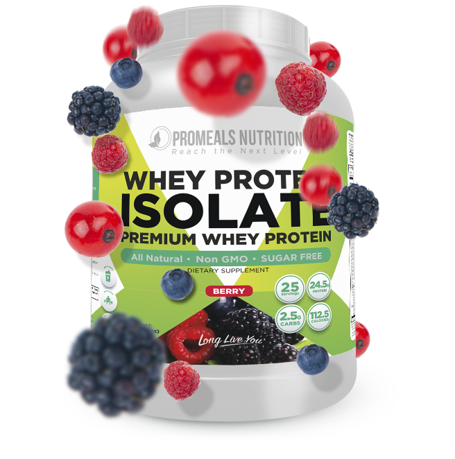 Berry Whey Protein Isolate by Promeals Nutrition