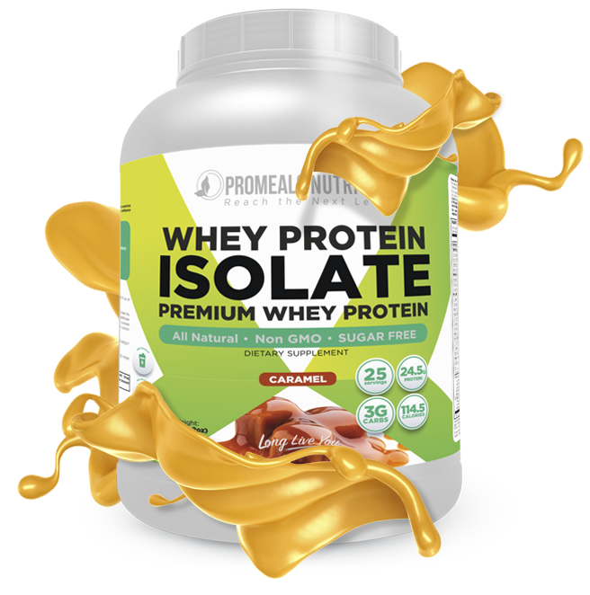 Caramel Whey Protein Isolate by Promeals Nutrition